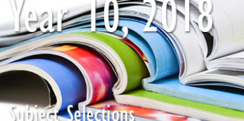 Year 10, 2018 Subject Selections