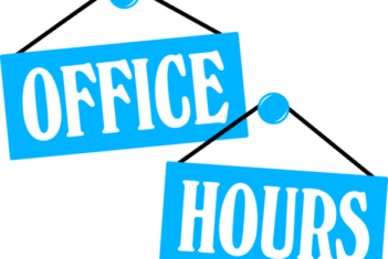 Office hours over the Christmas Holidays
